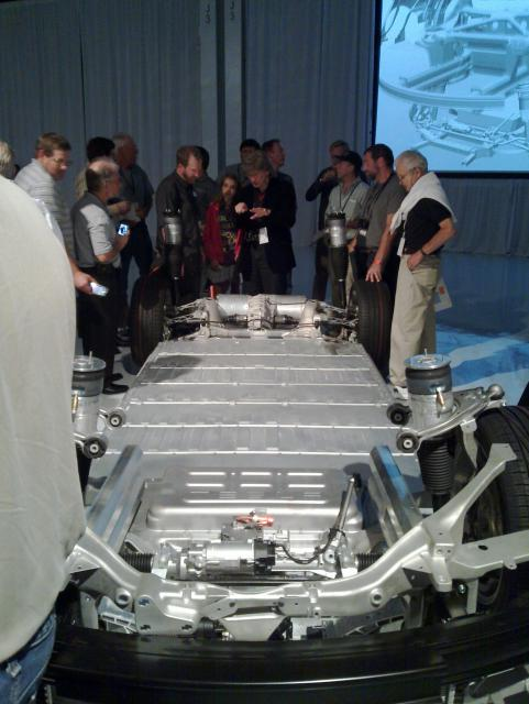 The Model S chassis
