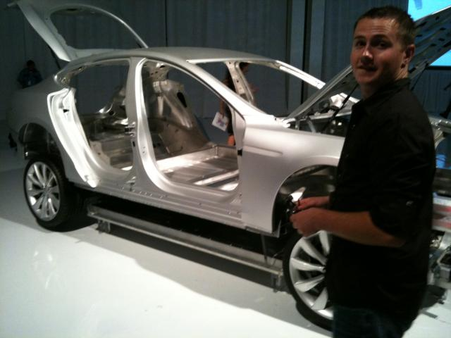 Me at the exploded Model S
